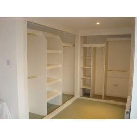 WARDROBES WITHOUT DOORS